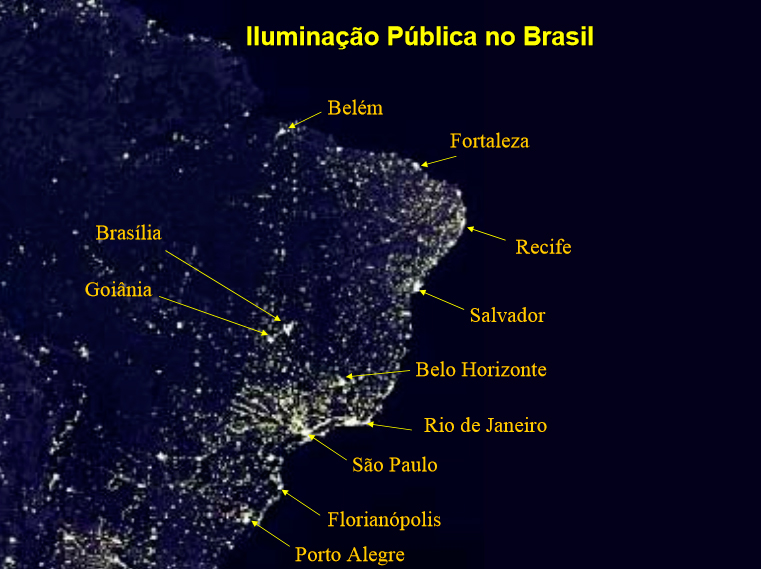 Mapa do Brasil - noite